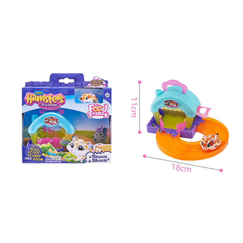Hamsters in the Series 2 Mini cake shop Bakery Food Frenzy Hamster with Accessories Toys Birthday Surprise Kids Gift 7