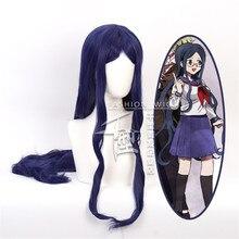 100cm Danganronpa: Trigger Happy Havoc Cosplay Shirogane Tsumugi Role Playing peruki Halloween Cosplay ciemnoniebieski kolor długa peruka