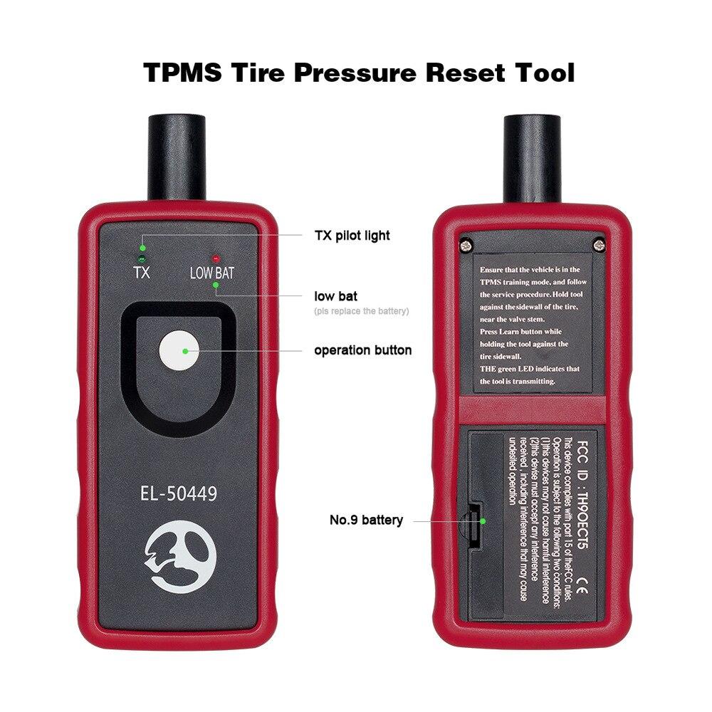 EL-50449 EL-50448 Reifen Druck Monitor Sensor EL50449 TPMS für Ford EL 50448 für GM TPMS Aktivierung Werkzeug + OEC-T5 TPMS scanner