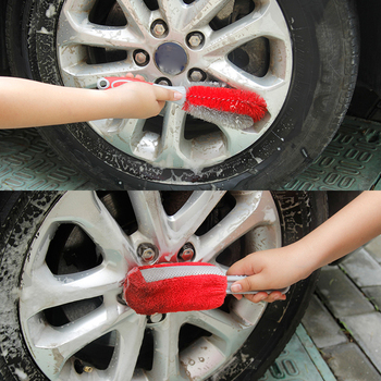 New Car Wheel Brush Rim Cleaning Tool Car Tire Cleaning Brush Black Car Repair Wash & Maintenance Sponges, Cloths & Brushes image