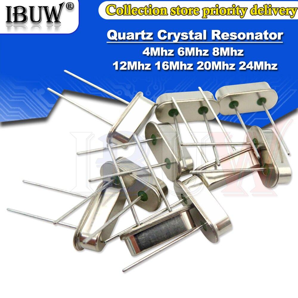 10 шт. 4 МГц 6 МГц 8 МГц 12 МГц 16 МГц 20 МГц 24 МГц 32,768 к 32,768 к кварцевый кристалл резонатор пассивный генератор HC49S 8,000 МГц