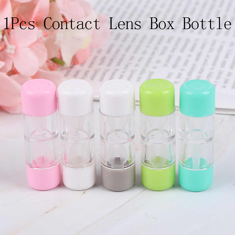 1Pcs 5 Colors Cosmetic Contact Lens Container Holder Lens Case Protective Box RGP Hard Contact