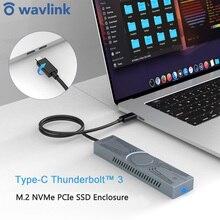 Wavlink Portable M.2 NVMe PCIe SSD EnclosureThunderbolt 3/4 External Hard Disk Drive PCI-E NVME M.2 SSD B Key&B+M Key Up to 4TB