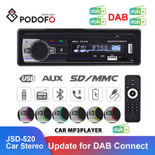 Podofo Tupfen Autoradio Auto Stereo FM Radio Aux Eingang Empfänger SD USB JSD-520 12V In-Dash 1 Din bluetooth MP3 Multimedia Player