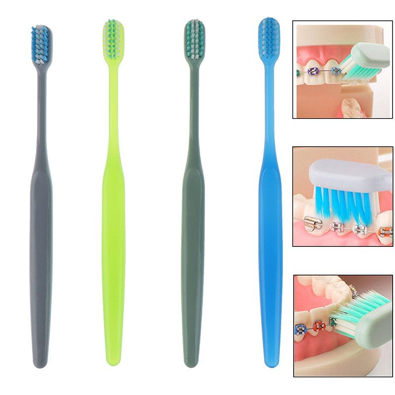 1Pcs U-shaped Orthodontic Fold Toothbrush Soft Bristle Orthodontia Teeth Brush Brace Teeth Toothbrush Small Head Random image