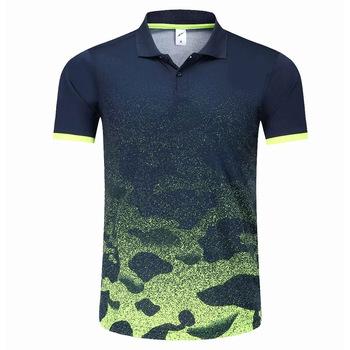 2019 nowe koszule golfowe odzież sportowa szybkie suche pol o koszule kobiety mężczyźni odzież golfowa z krótkim rękawem tenis stołowy Badminton Team T Shirt tanie i dobre opinie Poliester Pasuje prawda na wymiar weź swój normalny rozmiar Anty-pilling Anti-shrink Oddychające 1804 Suknem XS S M L XL
