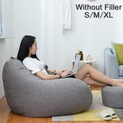 Большое маленькое ленивое покрывало на диван стулья без наполнителя льняная ткань шезлонг кресло мешок пуф слоеный диван татами гостиная