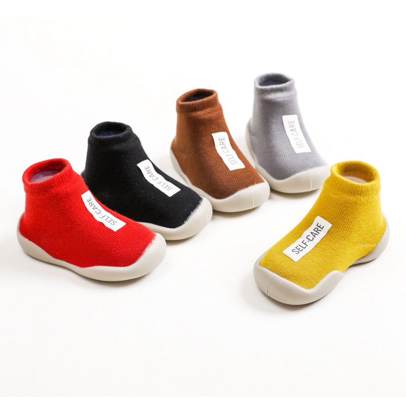 Kids Soft Rubber Sole Unisex Baby Shoes First Shoes Baby Shoe Knit Booties Anti-slip Baby Walkers Toddler First Walker Baby Girl
