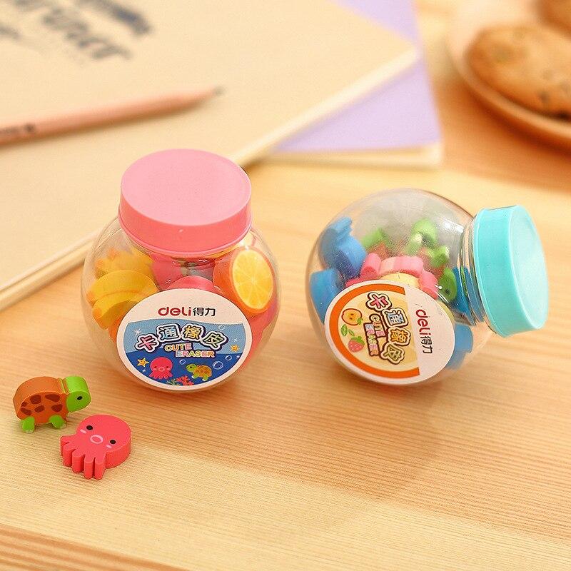 New Products Deli Rubber Eraser 7533 Cartoon Rubber Modeling Delicacy Mini Barrel Wholesale