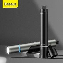 Baseus LED el feneri USB şarj edilebilir su geçirmez el feneri 2200mAh taşınabilir araç emniyet çekiç cam kırıcı acil kurtarıcı