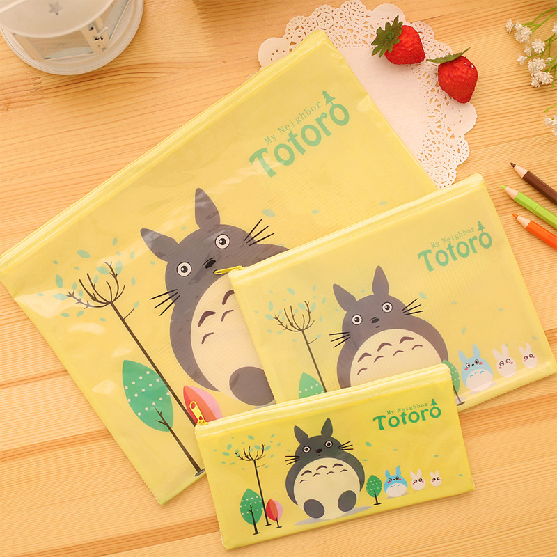 Cute Totoro A4 File Bag Document Bag File Folder Stationery Filing Production School Office Supply Children's Pencil Case