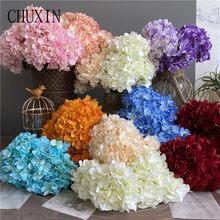5 forquilha de seda hortênsia alta qualidade artificial flor natal decorações de casamento decoração para casa presente festa decorações de flores falsas