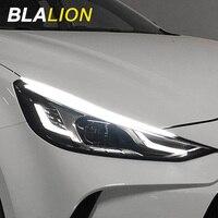 Luces De Circulación Diurna Led DRL para coche, tira de luces Led impermeables, flexibles, intermitentes, accesorios de luz blanca y amarilla
