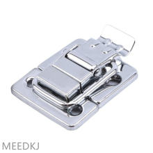 Stainless steel chrome plated lock buckle make up luggage aluminum