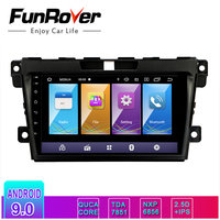 Funrover android 9.0 2.5D+IPS car dvd multimedia player For Mazda CX7 CX 7 CX 7 2008 2015 stereos car radio gps navigation RDS