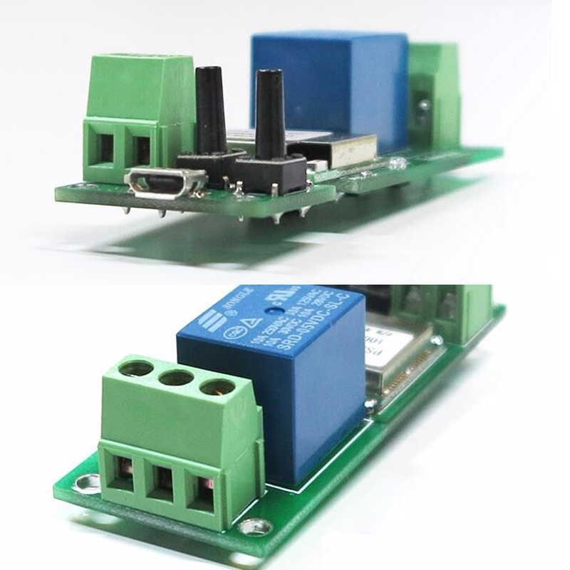 Módulo de interruptor Wifi de 5 piezas con bloqueo automático relé inalámbrico Automatización de hogar inteligente para acceso a ordenador Dc5V 1 canal