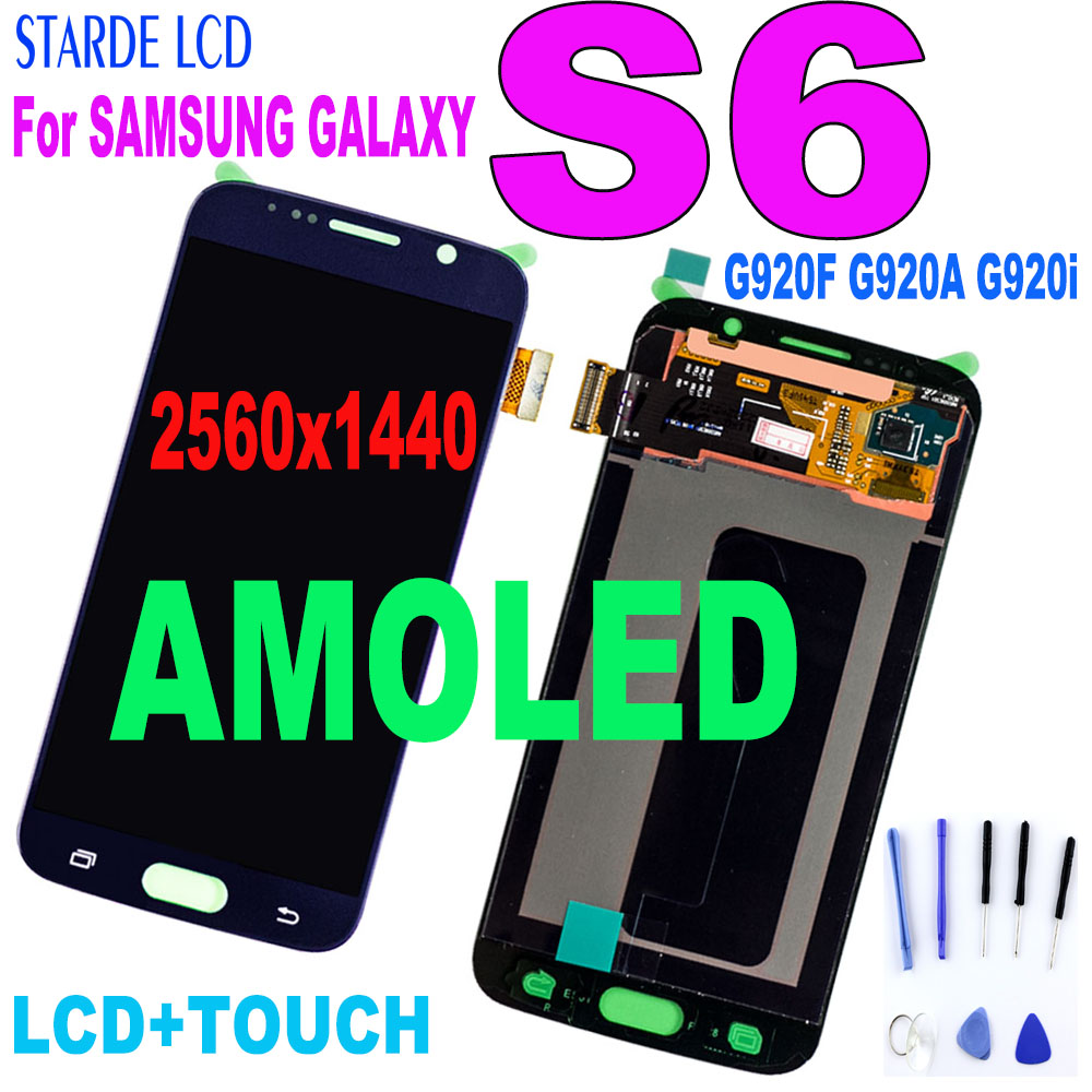100% Tested For <font><b>Samsung</b></font> <font><b>Galaxy</b></font> <font><b>S6</b></font> G920 G920F G920i <font><b>Lcd</b></font> <font><b>Display</b></font> Touch Screen Digitizer Assembly with frame for SM-G920F G920i <font><b>LCD</b></font> image