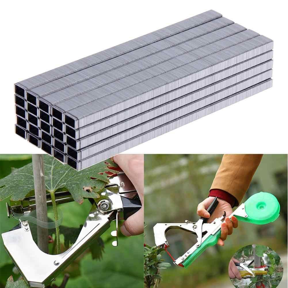 4X Ruban Vert Et 10000X Clous pour Pince /À Lier Les Branches Chenci Ruban pour Attacher Les Branches Et Un Paquet De Clou