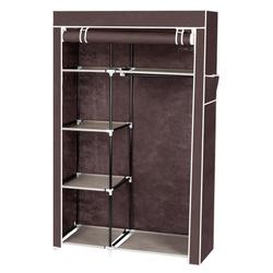 64 inch Non-Woven Fabric Cabinet Rack Closet Storage Organizer with Shelves Bra Underwear Storage Box for Scarf Sock Container
