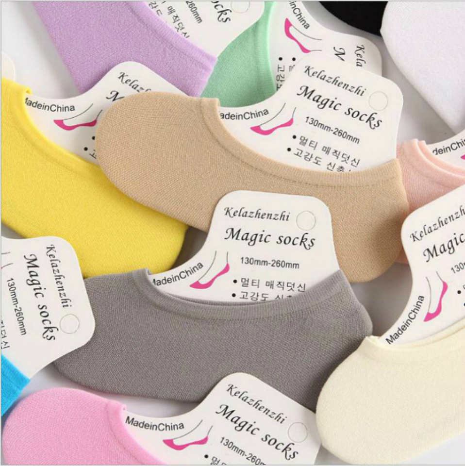 Ms Hosiery For Youth Pure Color Invisible Magic Summer Female Ship Socks Aliexpress