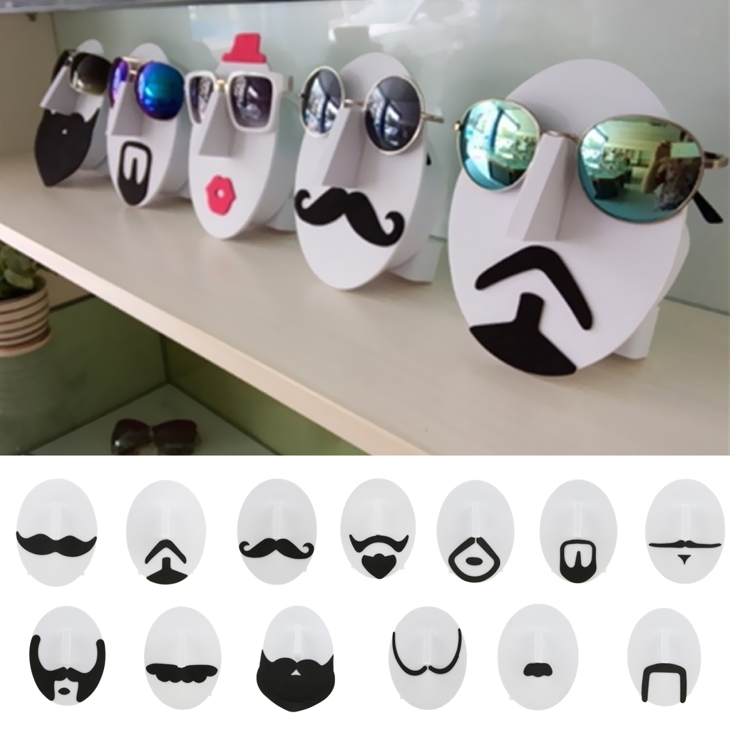EVA Men Mustache Face Pattern Glasses Sunglasses Spectacles Display Stand Holder Rack Organizer