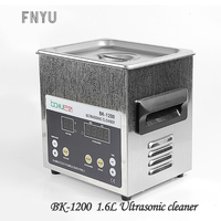 BK-1200 líquido de limpeza ultrassônico ac110/220 de digitas 1.6l que cronometra o líquido de limpeza integrado ultrassônico do aço inoxidável do aquecimento