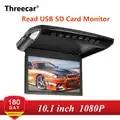 10.1/12.1 inch Flip Omlaag Monitor 1080P HD Speler FM Ultra Dunne Auto Dvd speler 2 Weg video ingang Autodak Gemonteerd TFT LCD Monitor