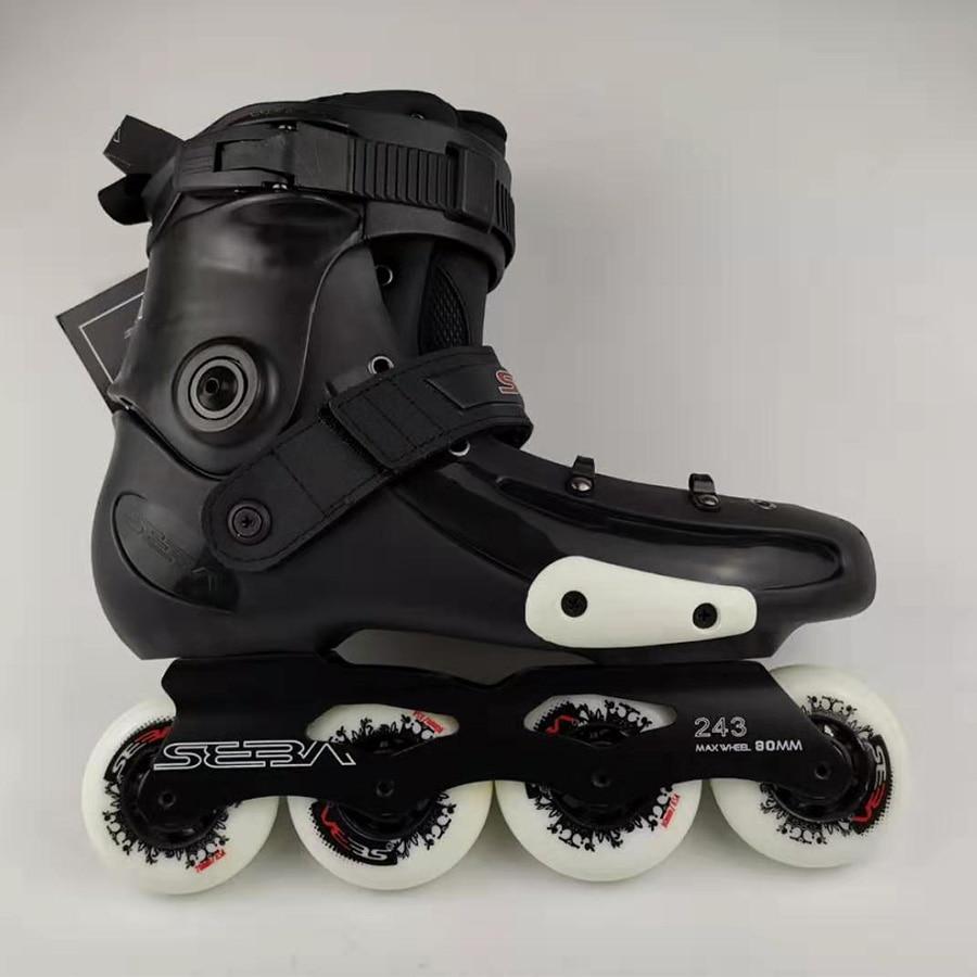 2019 zelfsluitende Speed Inline Skates Boot EUR Size 29 45 Koolstofvezel Professionele Concurrentie Racing Schaatsen Schoenen patines - 6