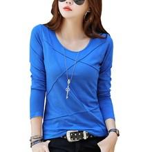 100% Cotton T Shirt Women Long Sleeve Ts