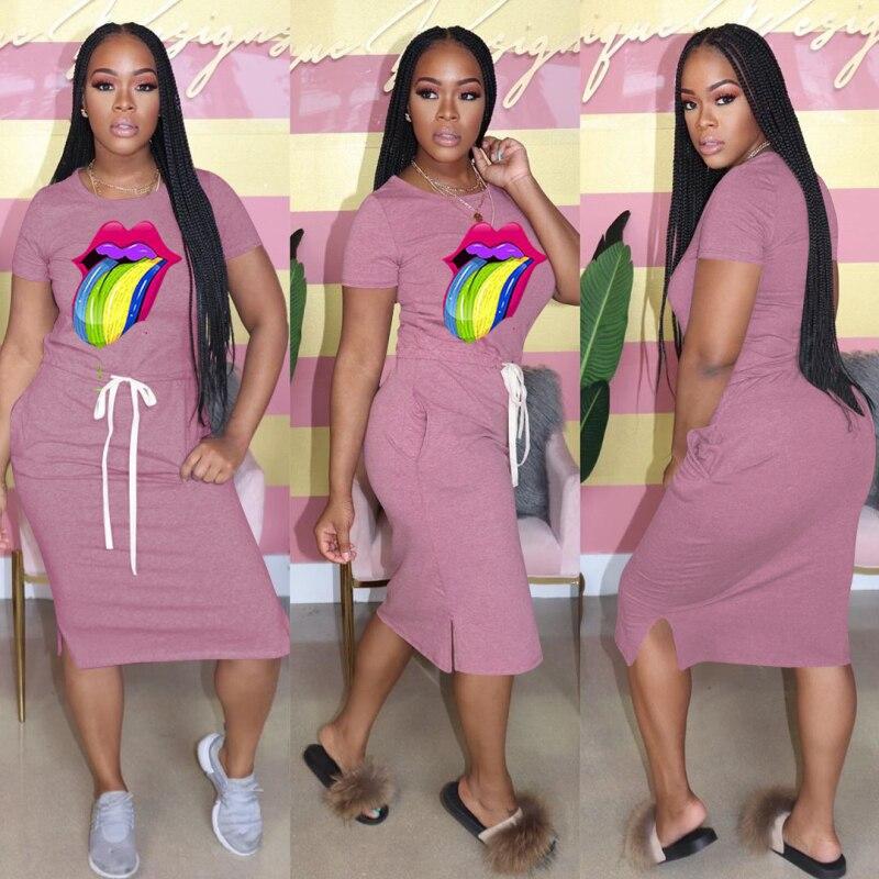 Купить повседневное женское летнее платье с коротким рукавом сексуальное