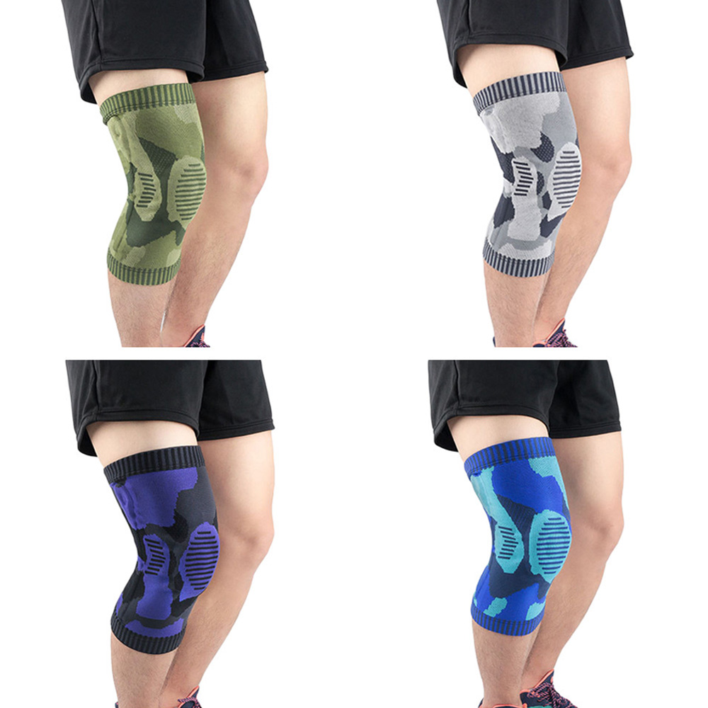 Sports Knee Protector Camouflage Elastic Anti-collision Knee Pads Training