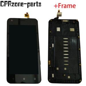 """Image 1 - 4.5 """"noir/blanc avec cadre pour Fly Nimbus 8 FS454 écran LCD avec écran tactile numériseur capteur panneau assemblée livraison gratuite"""