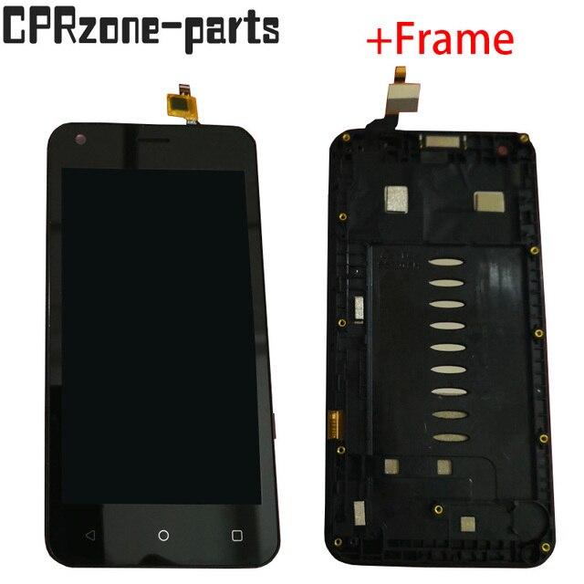 """4.5 """"noir/blanc avec cadre pour Fly Nimbus 8 FS454 écran LCD avec écran tactile numériseur capteur panneau assemblée livraison gratuite"""