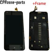 ЖК дисплей с рамкой для Fly Nimbus 8 FS454, ЖК дисплей с дигитайзером сенсорной панели в сборе, черный/белый, 4,5 дюйма