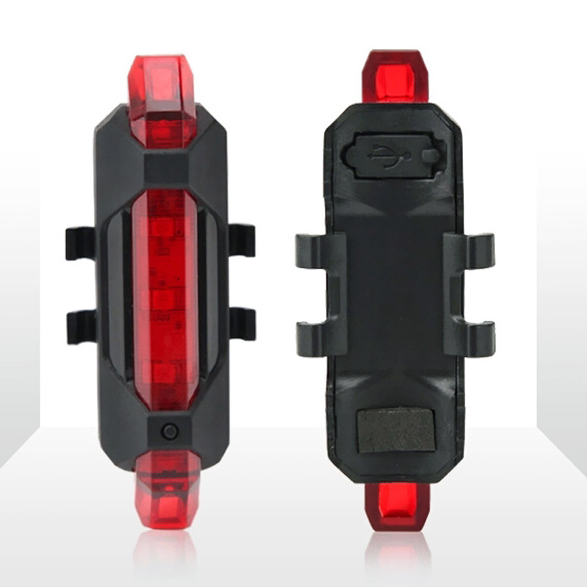 Portable USB Rechargeable Bike Bicycle Tail Rear Safety Warning Light Taillight  Lamp Super Bright HUG-Deals