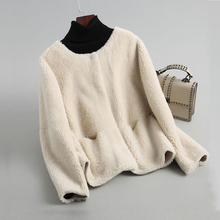 Новое пальто из натурального овечьего меха женская куртка из натурального меха пальто из натуральной шерсти замшевая кожаная подкладка большой размер F1121