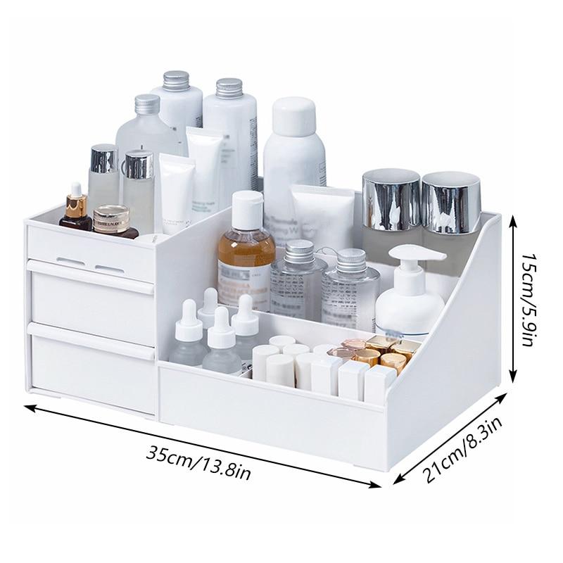 Makeup Organizer for Cosmetic Storage Box Desktop Jewelry Nail Polish Drawer Polish Makeup Container Large Capacity desk organiz
