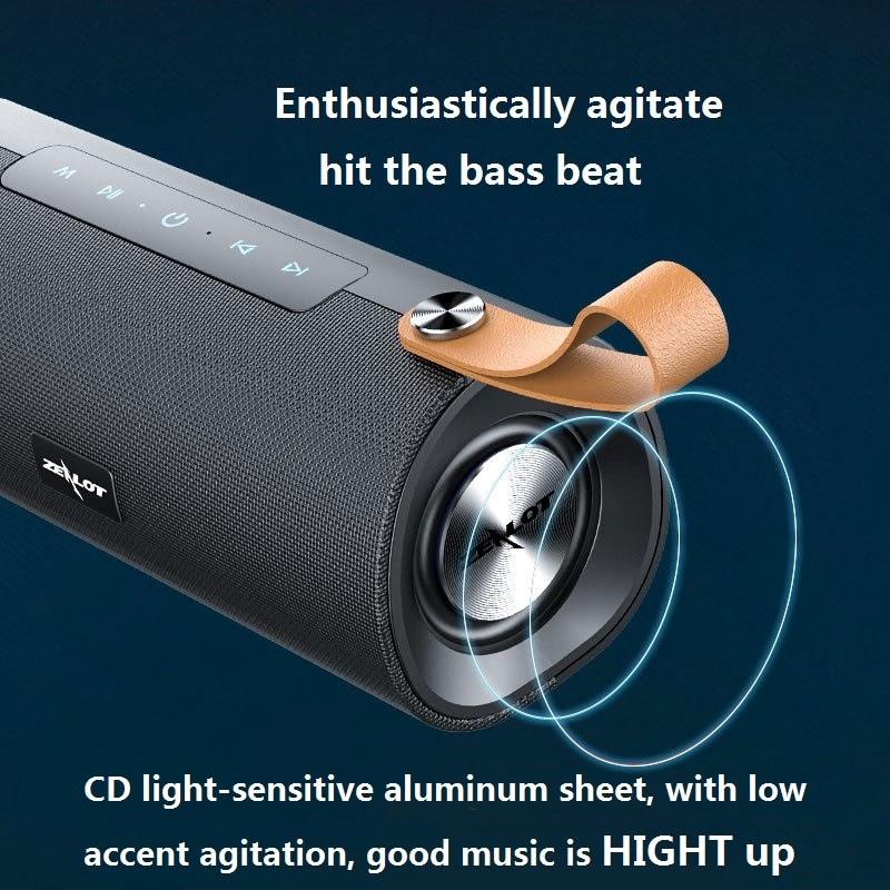 Беспроводная Bluetooth-Колонка ZEALOT S30, портативная Hi-Fi-колонка с поддержкой TF-карт, TWS,AUX,USB-флеш-накопителя