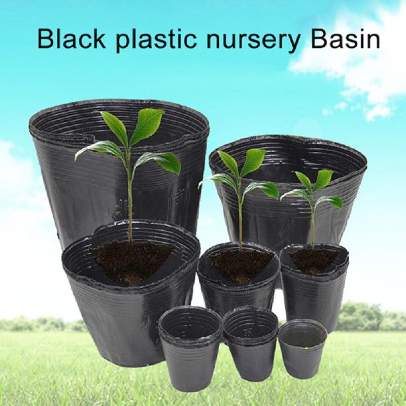 100pcs Plastic Nursery Pot Seedling Tray For Home Garden Plant Pot Nursery Transplant Flower Seedling Pots Succulent Flowerpot