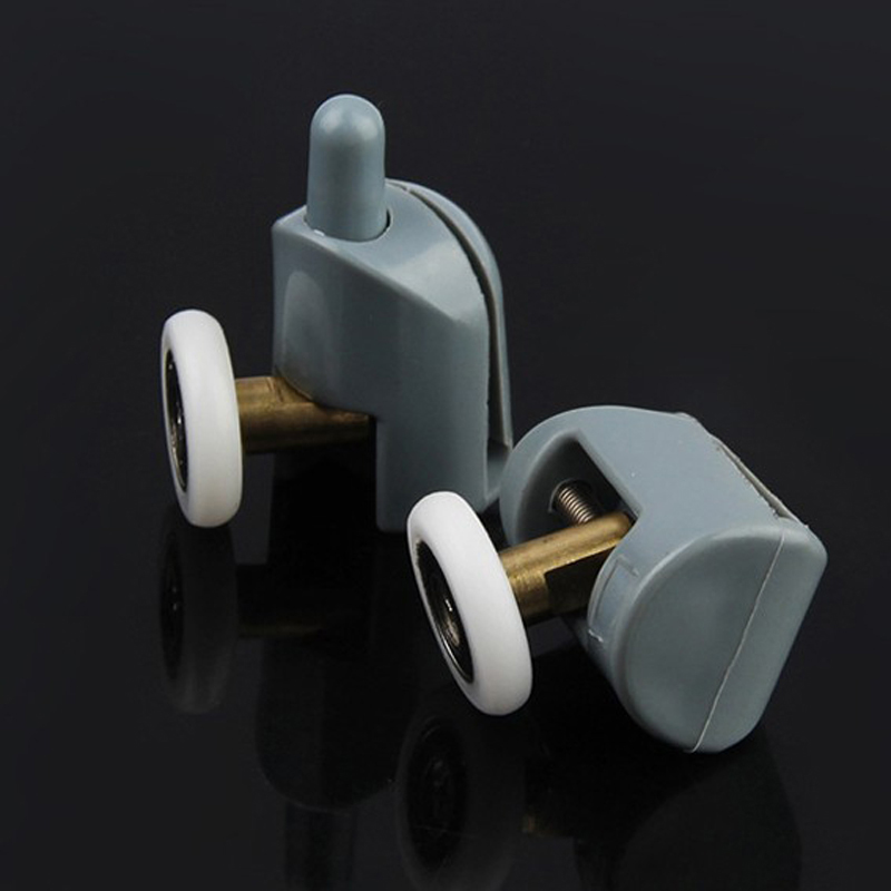 4-8pcs/lot Copper Shaft Shower Rooms Cabins Pulley Shower Room Roller /Runner/Wheel/Pulley  Diameter 20mm/22mm/23mm/25mm/27mm