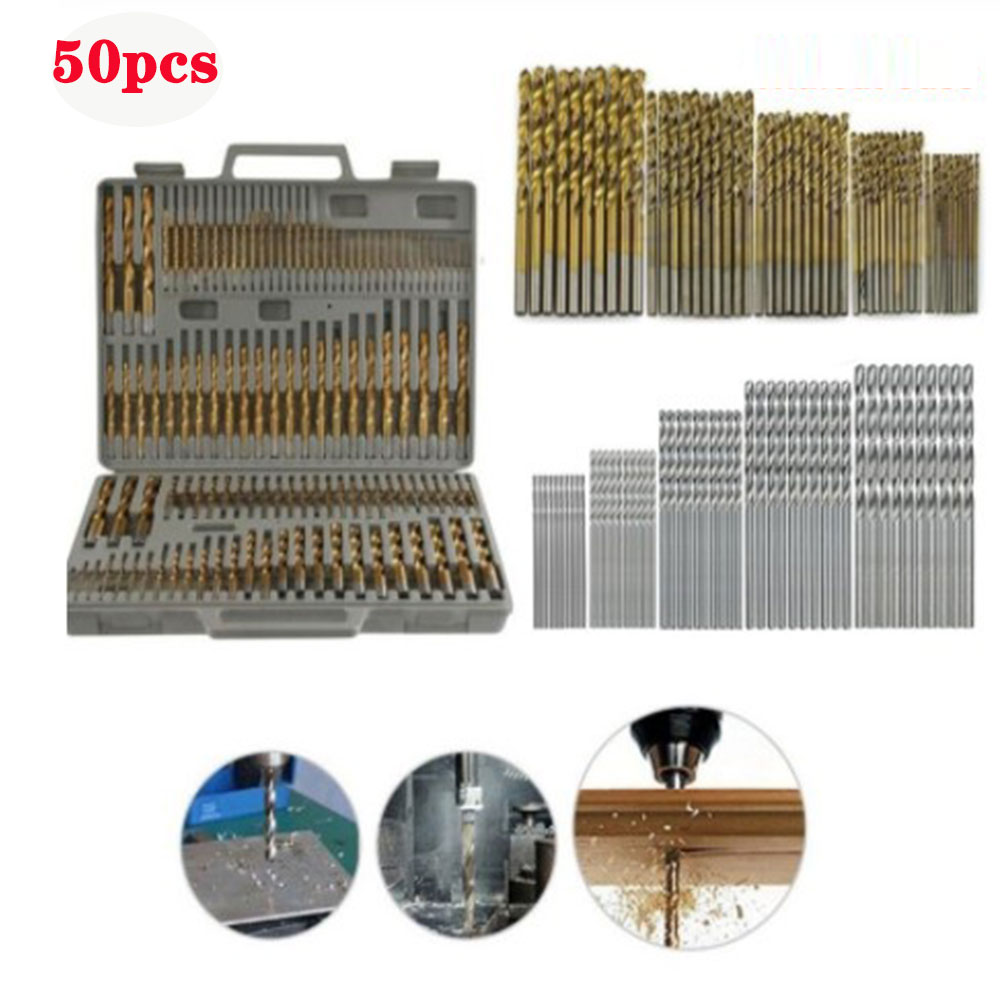 Many kinds of high speed steel titanium coated twist drill bit straight shank bit hand drill(China)