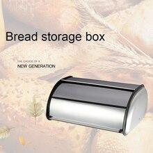 Household Kitchen Bread Storage Box Stainless Steel Bread Storage Bin Hotel Restaurant Organizer Box Kitchen Bread Box Storage bread