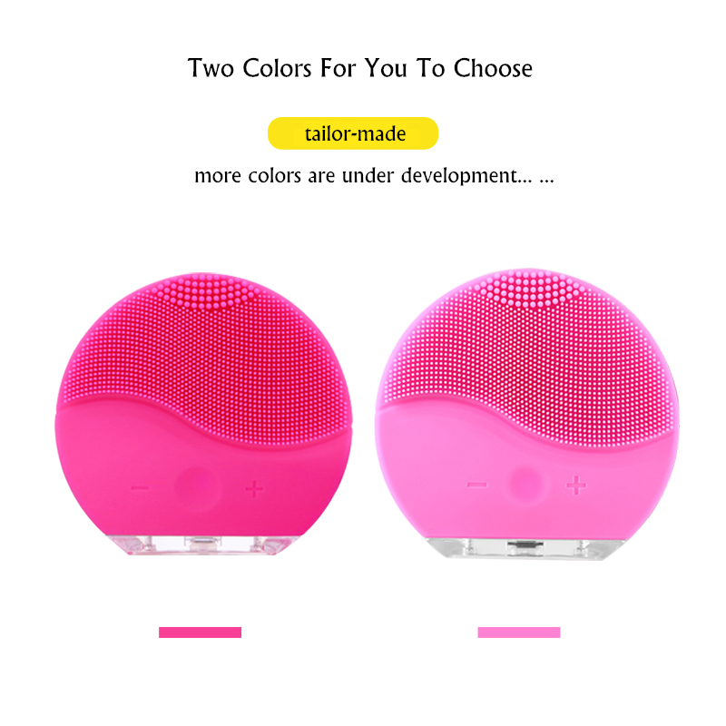 Image 5 - Face Cleansing Brush Deep Pores Cleansing Skin USB Mini Facial Massager Waterproof Face Cleanser Beauty Machine Silicone BrushPowered Facial Cleansing Devices   -