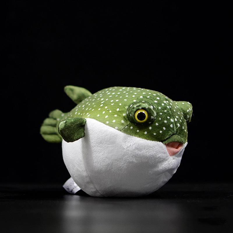 Real Life Pufferfish Plush Toy Lifelike Sea Animals Puffers Stuffed Toys Aquarium Fish Dolls Soft Toys Gifts For Kids