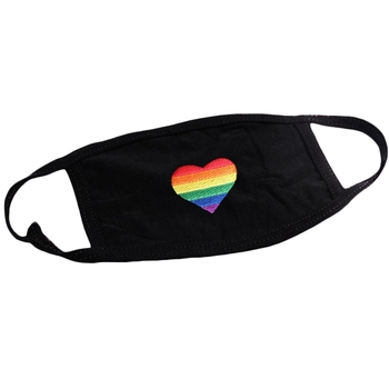 Rainbow Heart Lovely Cotton Masks Festive Party Respirator Keep Warm Cotton Cute Mask Camouflage Anti Dust Mouth Muffle