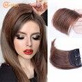 Синтетические Невидимые Бесшовные накладки для волос MEIFAN, зажим в одном, Накладка для наращивания волос из натуральных волос, верхняя боков...