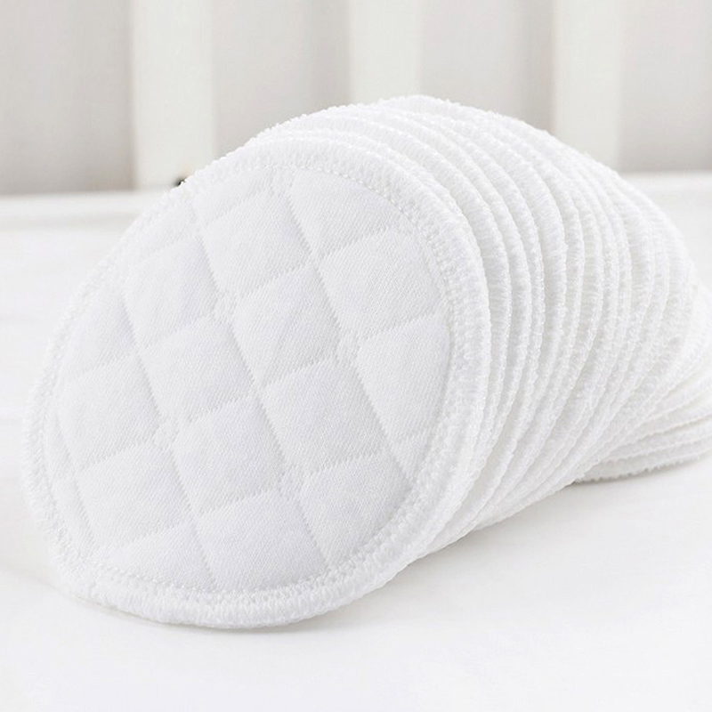 12pcs Pure Cotton Anti-seepage Breast Pads Washable Absorbent Breast Pads Thicken Soft Leakproof Breast Pads Feeding Accessories