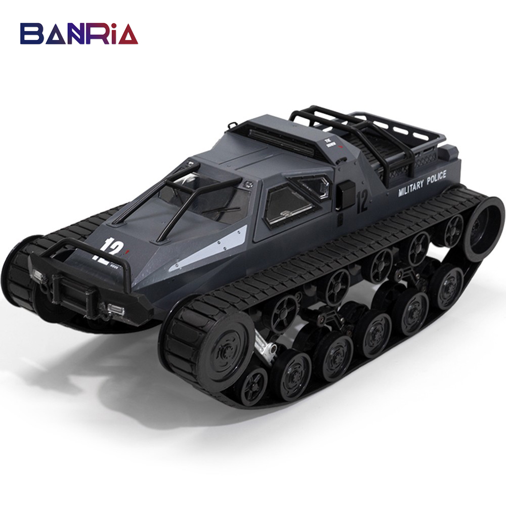 2.4G RC Tank Four-wheel Large Military Truck 1:12 Big Size Simulation Tank Drive High-speed Drift Tank Off-road Vehicle RC Car
