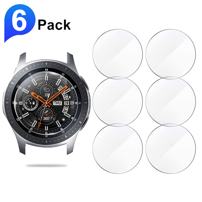 6pcs Screen Protector Glass For Samsung Galaxy Watch 46mm 42mm Tempered Glass Protective Film For Gear S3 Sport Aactive 2 44mm