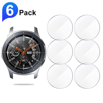 6pcs Screen Protector Glass for Samsung Galaxy Watch 46mm 42mm Tempered Glass Protective Film for Gear S3 Sport Aactive 2 44mm 2pcs pack tempered glass screen protector watch screen protective films for samsung galaxy watch 42 46mm